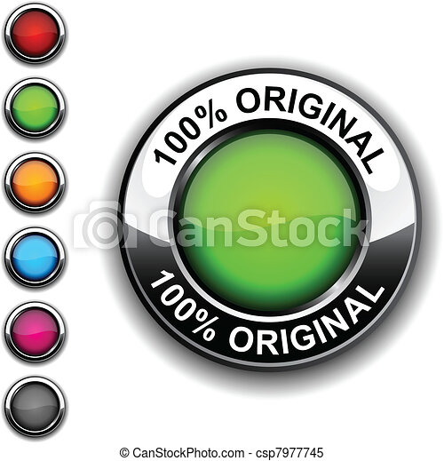 100% original button. - csp7977745