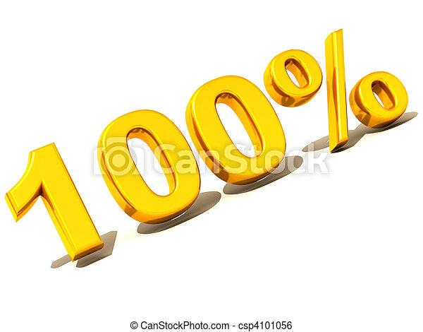 100 percent. Gold - csp4101056