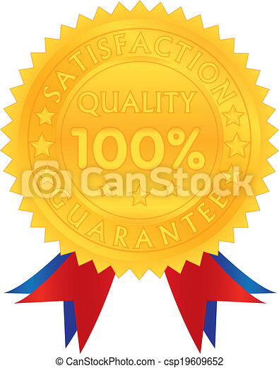 100 percent guarantee satisfaction quality - csp19609652