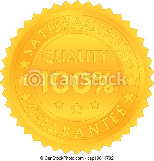 100 percent guarantee satisfaction quality - csp19611792