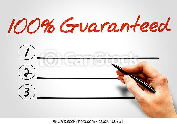 100 Percent Guaranteed - csp26106761