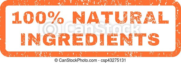 100 Percent Natural Ingredients Rubber Stamp - csp43275131