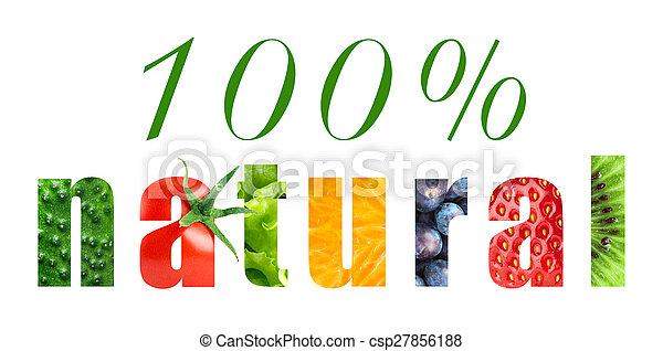 100 percent natural - csp27856188