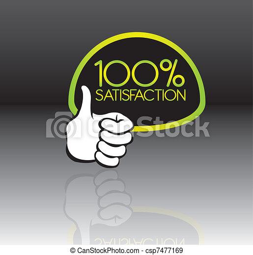 100 percent satisfaction - csp7477169