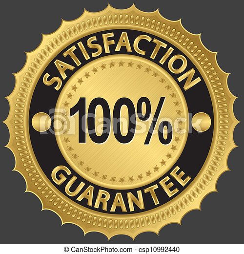 100 percent satisfaction guarantee  - csp10992440