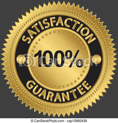 100 percent satisfaction guarantee  - csp10992438