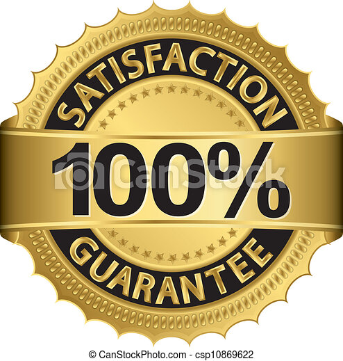 100 percent satisfaction guarantee  - csp10869622