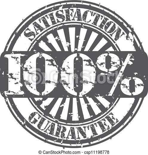100 percent satisfaction guarantee  - csp11198778
