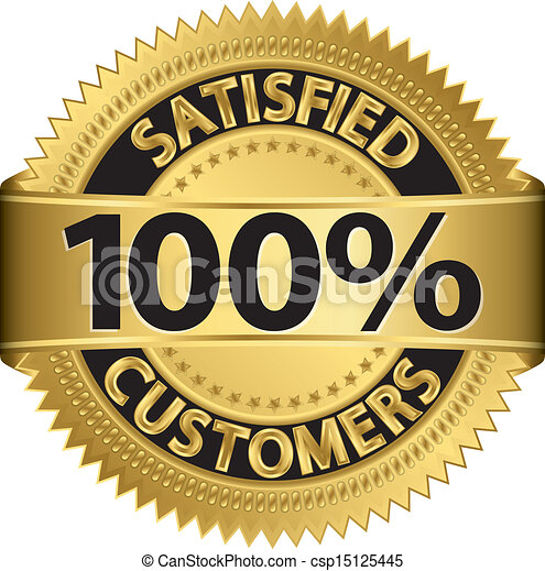 100 percent satisfied customers gol - csp15125445