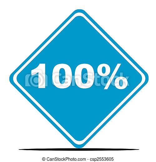 100 Percent sign - csp2553605