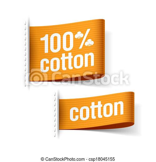 100%, prodotto, cotone - csp18045155