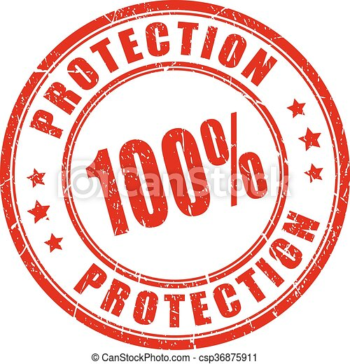 100 protection stamp - csp36875911