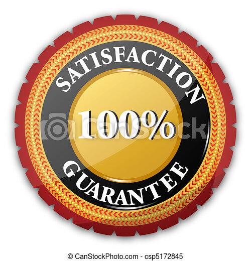 100% satisfaction guaranteed logo - csp5172845