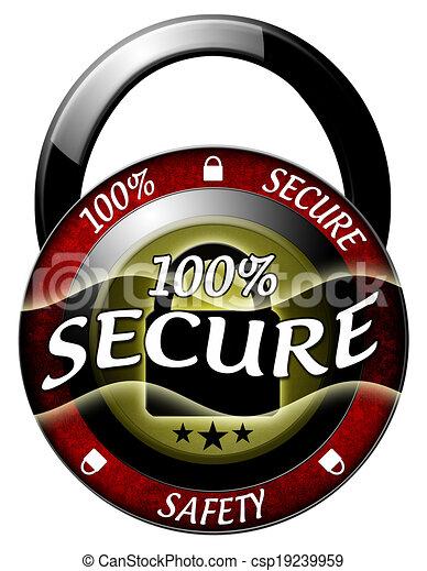 100 secure padlock icon - csp19239959