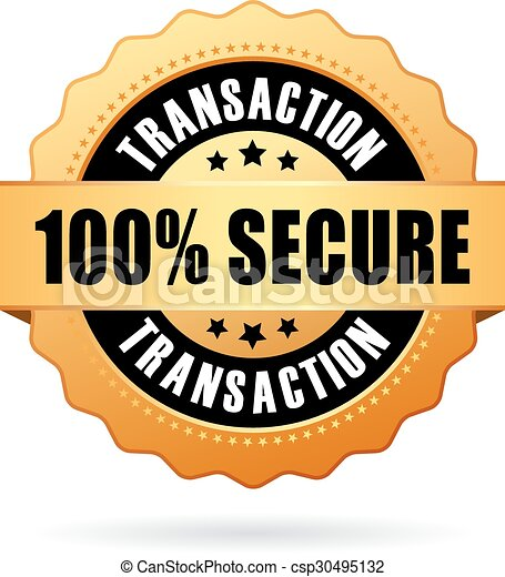 100 secure transaction icon - csp30495132