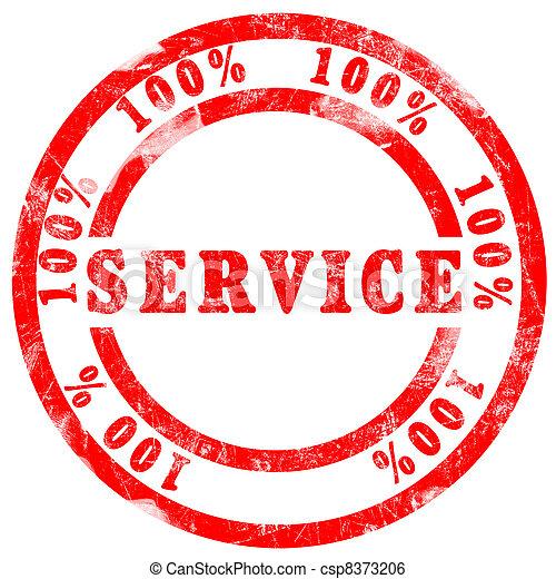 100 % Service Stamp - csp8373206