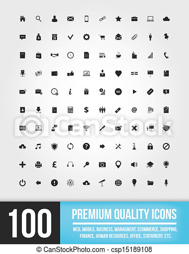100 Web Icons  - csp15189108