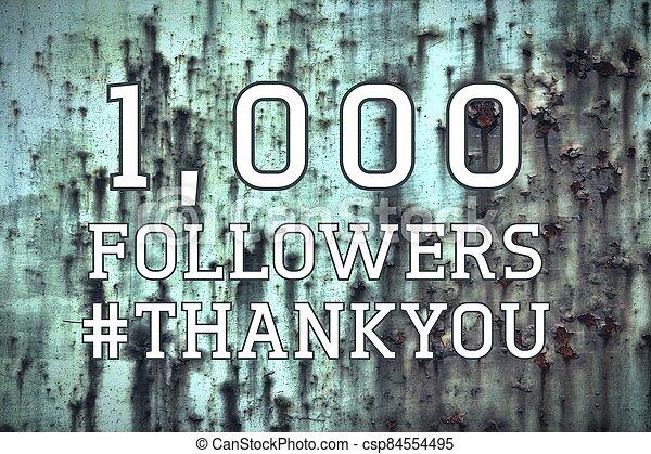 1000 followers banner - csp84554495