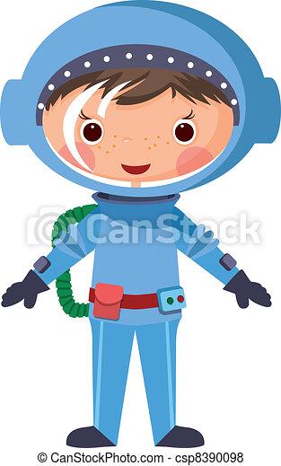 1060-Cartoon astronaut - csp8390098