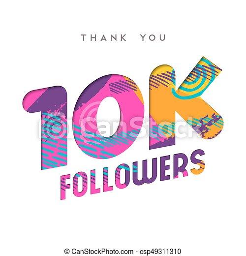 10k internet follower number thank you template 10000 followers