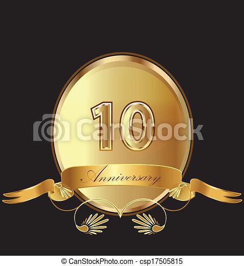 10th anniversary birthday seal  - csp17505815