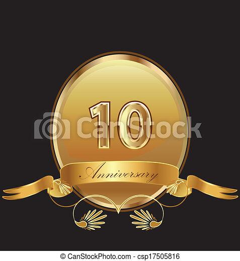 10th anniversary birthday seal - csp17505816