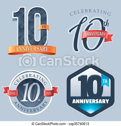 10th Anniversary Logo A Set Of Symbols Representing A 10 Years