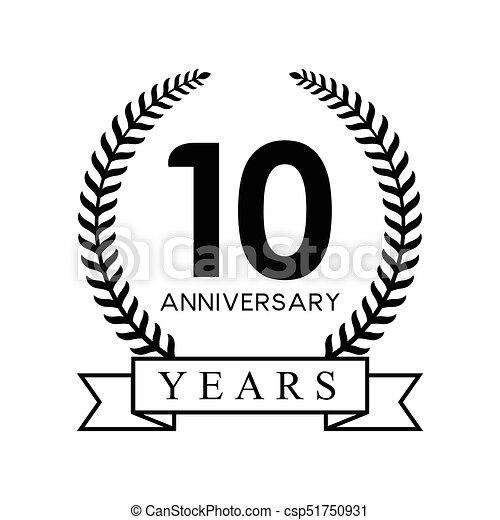 10th anniversary years - csp51750931