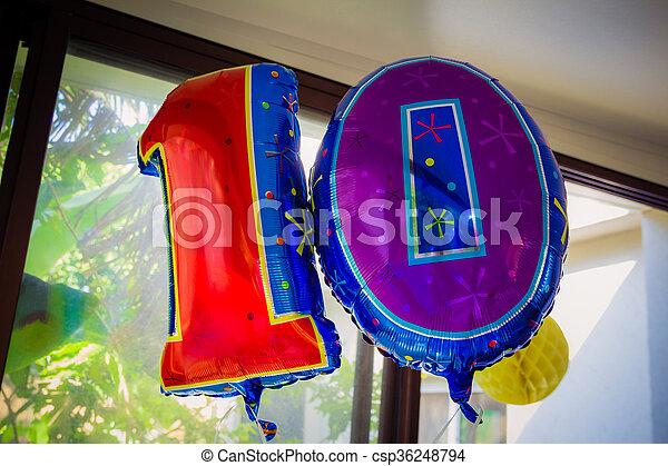 10th Birthday Balloon - csp36248794