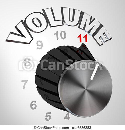 11, bouton, cadran, ceci, tourné, -, une, volume, va, max - csp6586383