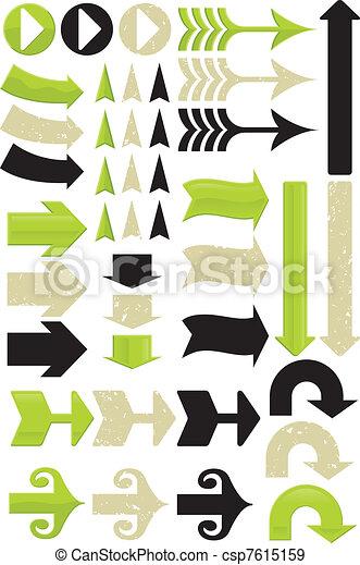 11, diferente, jogo, seta, vectors - csp7615159