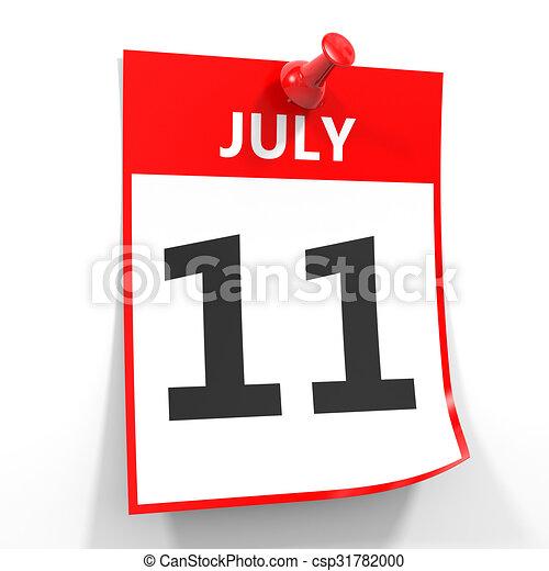 Calendario Julio Del 2000.11 Hoja Pin Julio Calendario Rojo