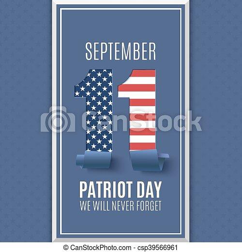 11, patrióta, september., elvont, háttér., nap - csp39566961