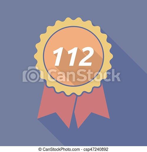 112, ombre, long, écusson, texte - csp47240892