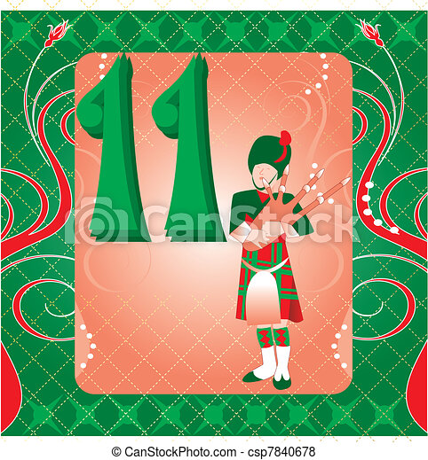 11th day of christmas csp7840678 - 11th Day Of Christmas