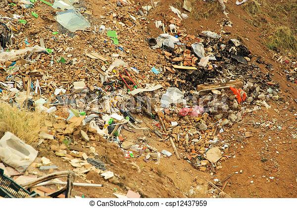 12, décharge ordures - csp12437959
