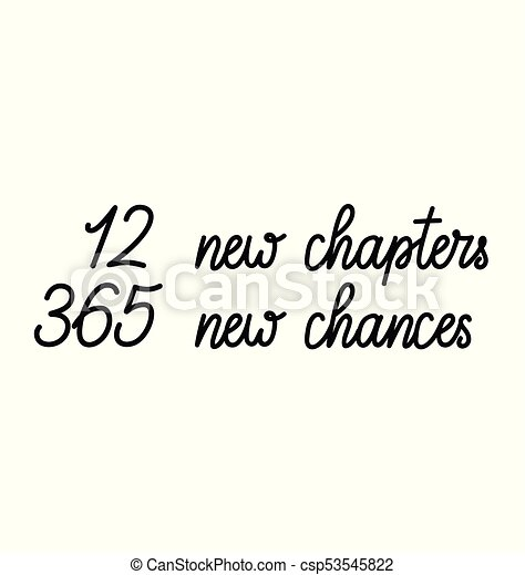12 new chapters 365 new chances new year card trendy pink vector vector 12 new chapters 365 new chances new year card csp53545822 m4hsunfo