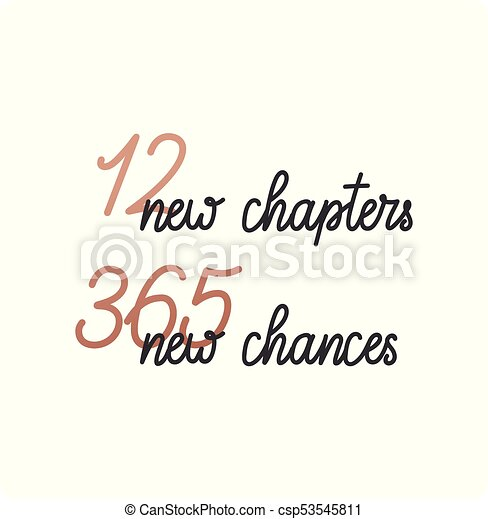 12 new chapters 365 new chances new year card trendy pink vector vector 12 new chapters 365 new chances new year card csp53545811 m4hsunfo