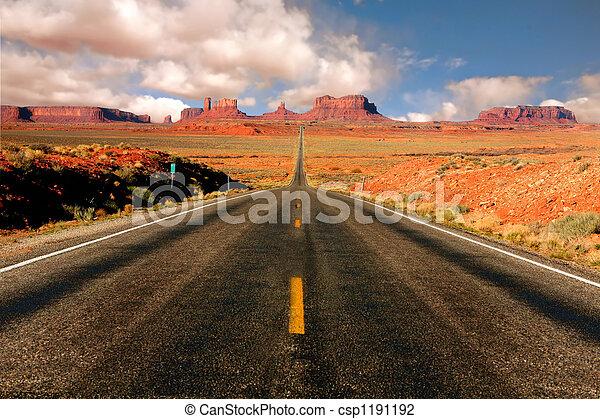 13, arizona, miglio, valle monumento, vista - csp1191192