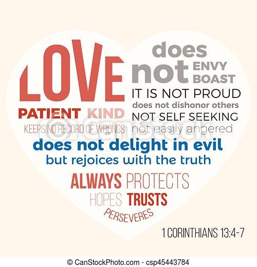 13 Biblia Miłość 4 7 1 Wiersz Corinthians Pacjent