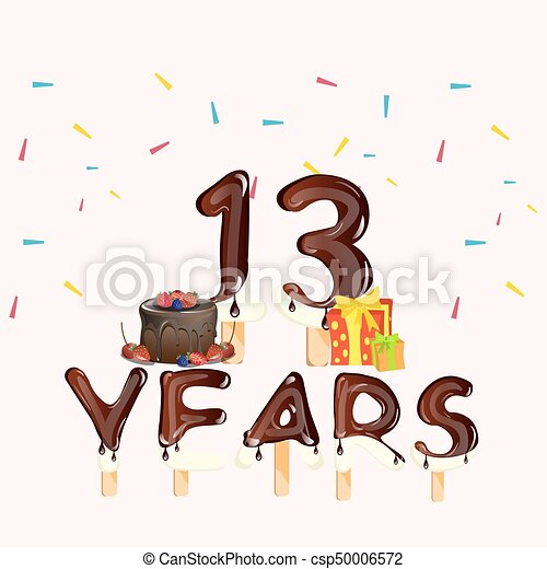 fest 13 år 13, gave, år, fødselsdag kage, fest. Fødselsdag, 13, gift  fest 13 år