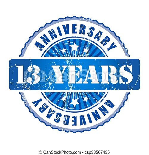 13 Years Anniversary Stamp