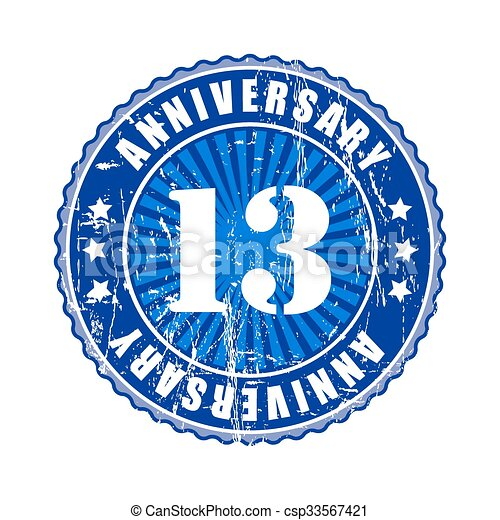 13 Years Anniversary Stamp 13 Years Anniversary Stamp