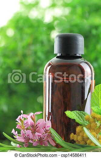 1415. Natural herbs essential oil  - csp14586411