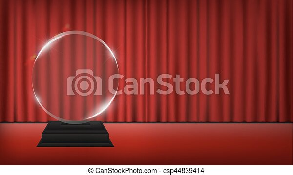 1487343405942real 3d Transparent Acrylic Trophy With Red Curtain Stage Background