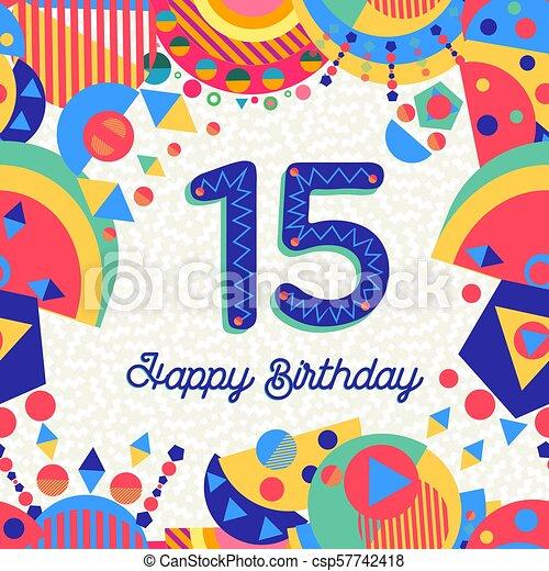 fødselsdagskort 15 år