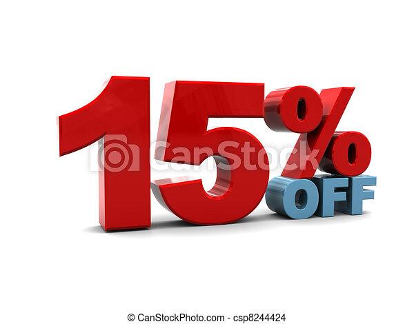 15 percent discount - csp8244424