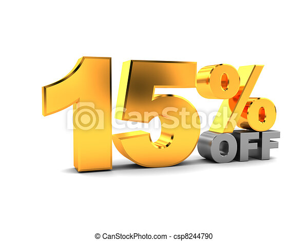 15 percent discount - csp8244790