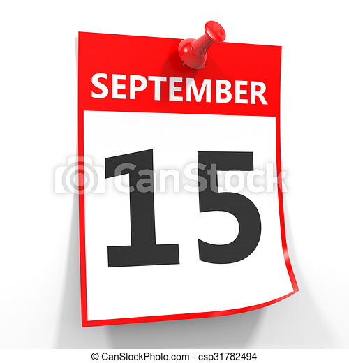 Calendario Dibujo Septiembre.15 Pin Septiembre Hoja Calendario Rojo