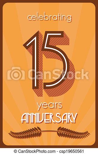 15 years anniversary  - csp19650561